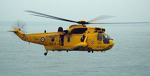 "Piper Alpha - An RAF Search-and-Rescue Sea King of the same type as ""Rescue 138"""