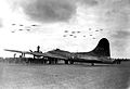 RAF Thurleigh - 306th Bombardment Group - MoH Ceremony Maynard Smith B-17 flyover.jpg