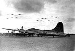 RAF Thurleigh - 306th Bombardment Group - MoH Ceremony Maynard Smith B-17 flyover.jpg