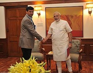 Raghuram Rajan - Raghuram Rajan meeting Prime Minister Narendra Modi in 2014.