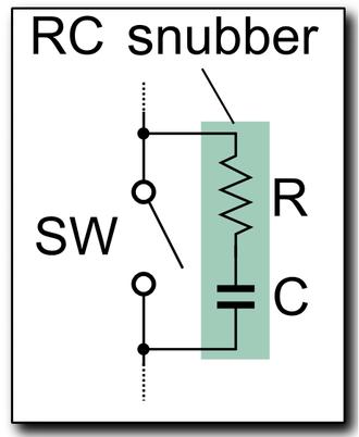 Snubber - RC snubber schematic