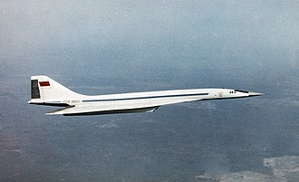 Tupolev Tu-144 - Tu-144 prototype in flight on 1 February 1969