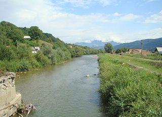 Someșul Mare river in north-western Romania