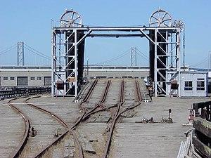 Ferry slip - Image: RR Barge Apron