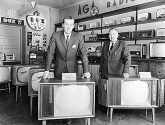 Consumer electronics - A radio and TV store in 1961.