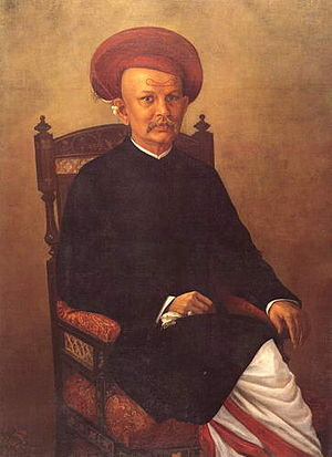 Gentleman - Raja Ravi Varma, Painting of a Gentleman; India, 19th century.
