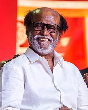 Rajinikanth at the Inauguration of MGR Statue (cropped).jpg
