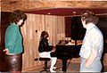 Ralph Ruppert with Stevie Wonder and Frank Farian at FAR Studios Rosbach - Germany 1984.jpg