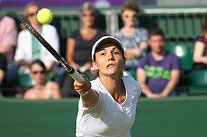 Raluca Olaru - Olaru plays at Wimbledon 2013