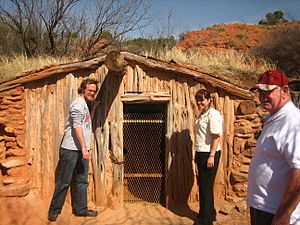 National Register of Historic Places listings in Armstrong County, Texas - Image: Rancher's dugout in Palo Duro Canyon IMG 0109