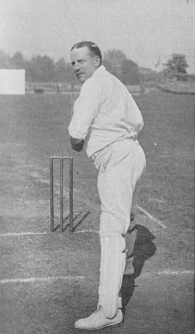 Ranji 1897 page 217 A. N. Hornby placing himself in position for an off-drive.jpg