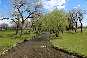 Rapid Creek (South Dakota) - The creek in Rapid City's Founders Park