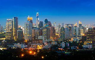 Ratchadamri Road street in Bangkok, Thailand