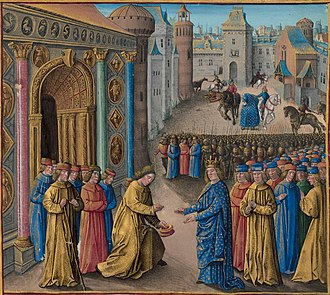 Second Crusade - Raymond of Poitiers welcoming Louis VII in Antioch