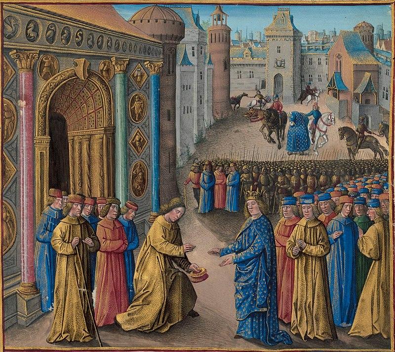 Raimundo de Poitiers recibiendo a Luis VII