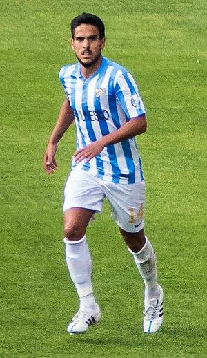 Recio (footballer) - Recio playing for Málaga in 2015