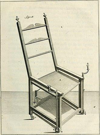 Wheelchair - Nicolas Grollier de Servière (1596–1689) Wheelchair in his Cabinet of curiosities