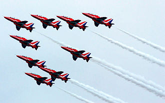 Southport - The Red Arrows at Southport Airshow in 2009