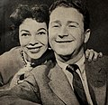 Red Buttons with his second wife Helayne McNorton, 1953.jpg