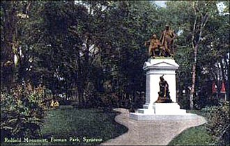 Forman Park - Forman Park about 1900 - Redfield Monument
