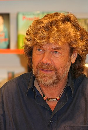 Mountaineer and author Reinhold Messner authog...