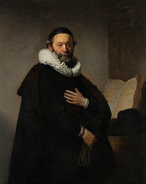 Rembrandt Harmensz. van Rijn - Portret van Johannes Wtenbogaert (1557-1644), Remonstrants predikant - Google Art Project