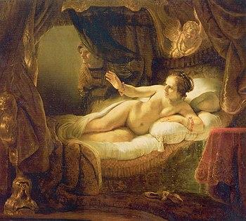 """Рембрант. """"Даная"""". 1636."""
