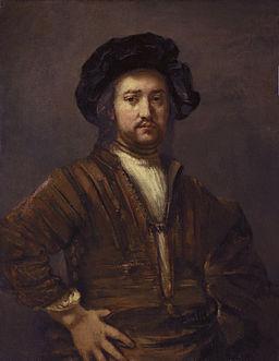 Rembrandt Harmensz van Rijn - Portret van een man met de handen in de zij 1658