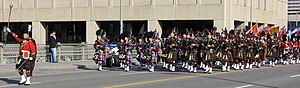 Pipe band - A military Remembrance Day parade in Ottawa, Ontario.