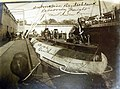 Removing freight from merchant submarine, Deutschland in New London, Connecticut, 1916 (30238930151).jpg