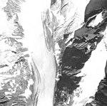 Rendu Glacier, tidewater glacir and hanging glaciers, August 31, 1974 (GLACIERS 5836).jpg