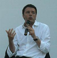 Matteo Renzi durante la campagna elettorale per le Primarie del PD del 2012.