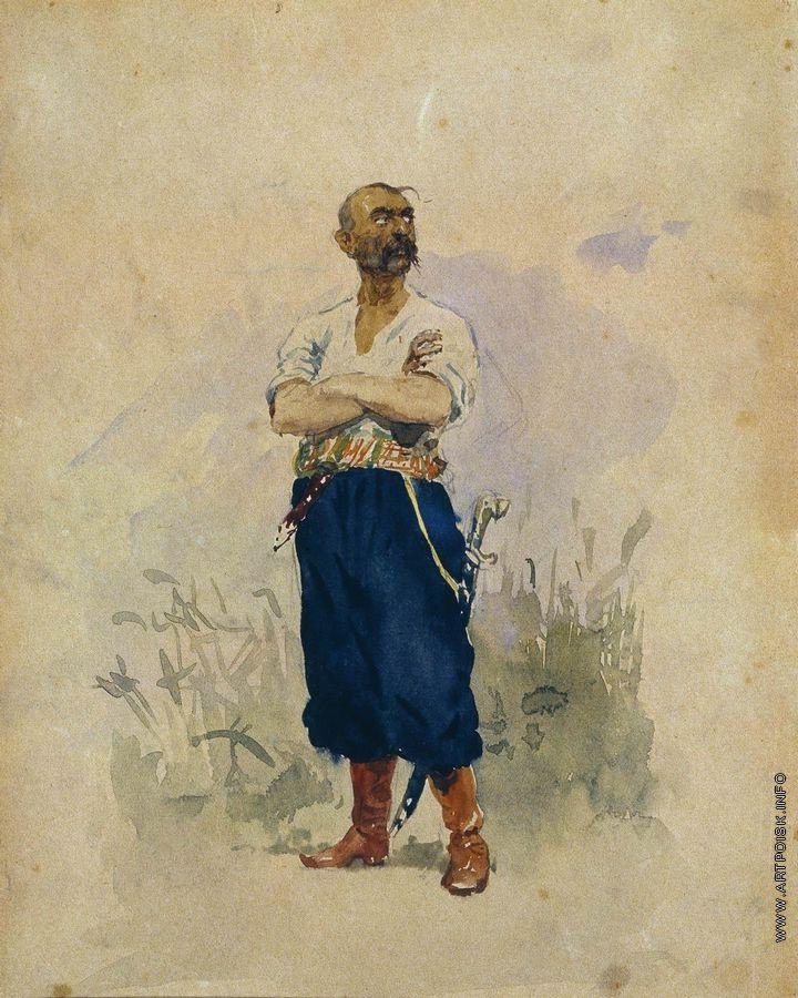 Repin-Cossack of the Zaporozhian Sich