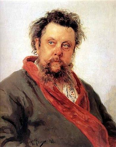 И.Е.Репин. «Портрет композитора М.П.Мусоргского». 1881
