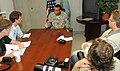 Reporters briefing at Guantanamo.JPG