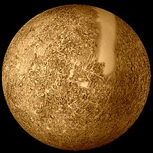 Reprocessed Mariner 10 image of Mercury