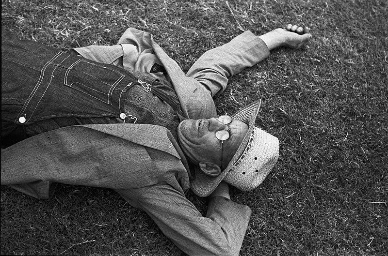Agricultor descansando