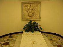La tomba di San Giovanni Paolo II