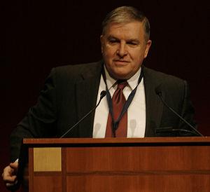 Retired USMC General Anthony Zinni speaking at...