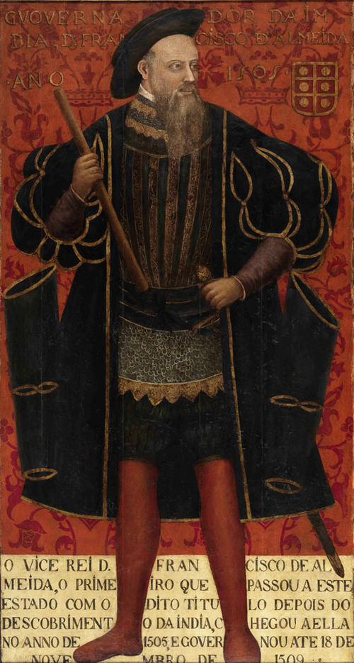Francisco de Almeida, first viceroy of Portuguese India Retrato de D. Francisco de Almeida (apos 1545) - Autor desconhecido.png