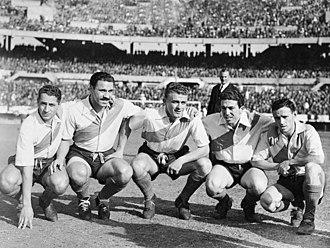 La Máquina - La Máquina in 1947: from left to right: Reyes, Moreno, Di Stéfano, Labruna and Loustau