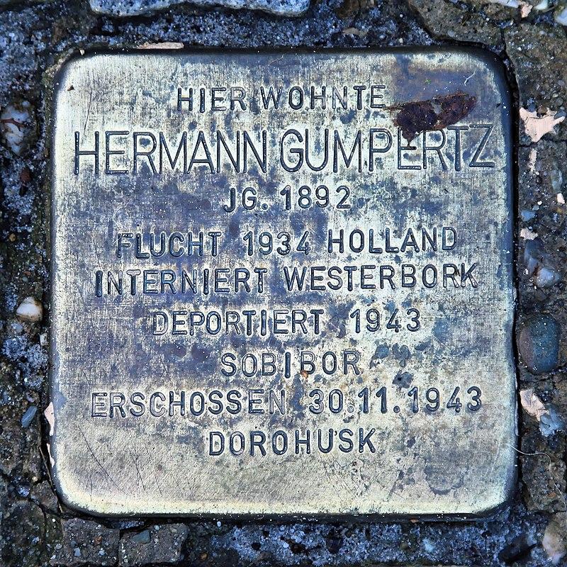 Rhauderfehn - Rhauderwieke - 3 - Stolpersteine Gumpertz, Hermann 01 ies.jpg