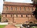 Rheinmünster, Klosterkirche Schwarzach, Langhaus und südliches Seitenschiff, Blick von Süden.jpg
