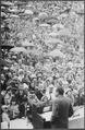 Richard M. Nixon speaking to crowd in the rain - NARA - 194691.tif