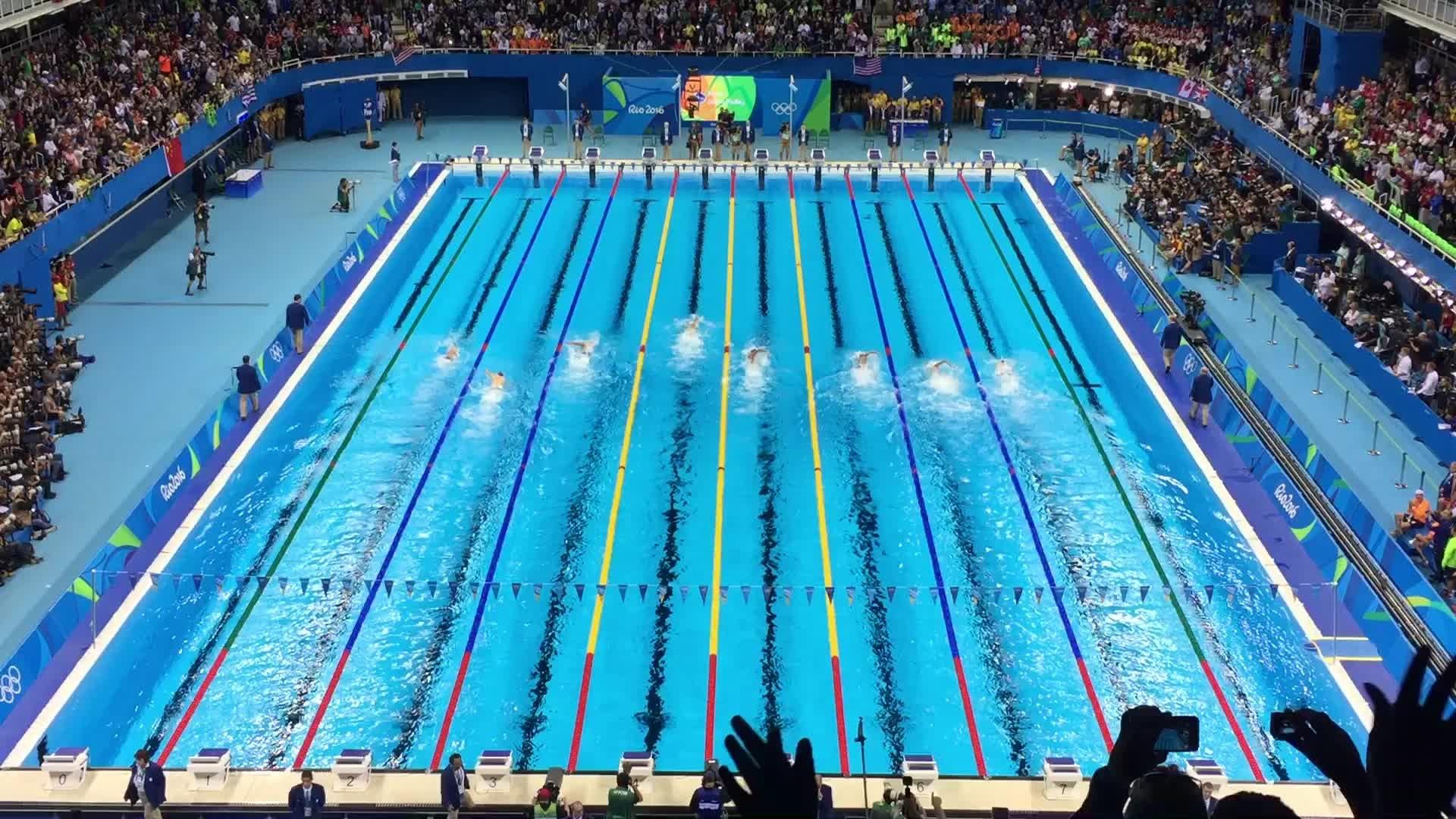 mint TICKET 11.8.2016 Olympia Rio Schwimmen Swimming # D11