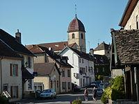 Rioz haute saone village eglise.jpg