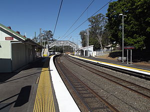 Riverview railway station - Eastbound view in September 2012