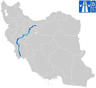 Freeway 5 (Iran) - Image: Road 5 2 (Iran)