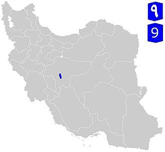 Mo'allem Freeway - Image: Road 9 (Iran)