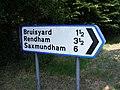 Roadsign to Bruisyard - geograph.org.uk - 1394710.jpg